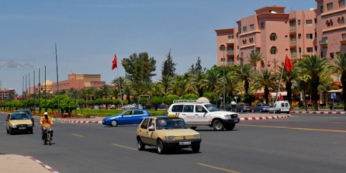 Quartier de Guéliz à Marrakech