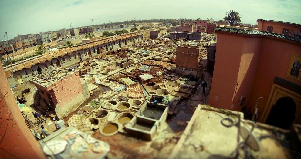 Quartier des tanneurs à Marrakech
